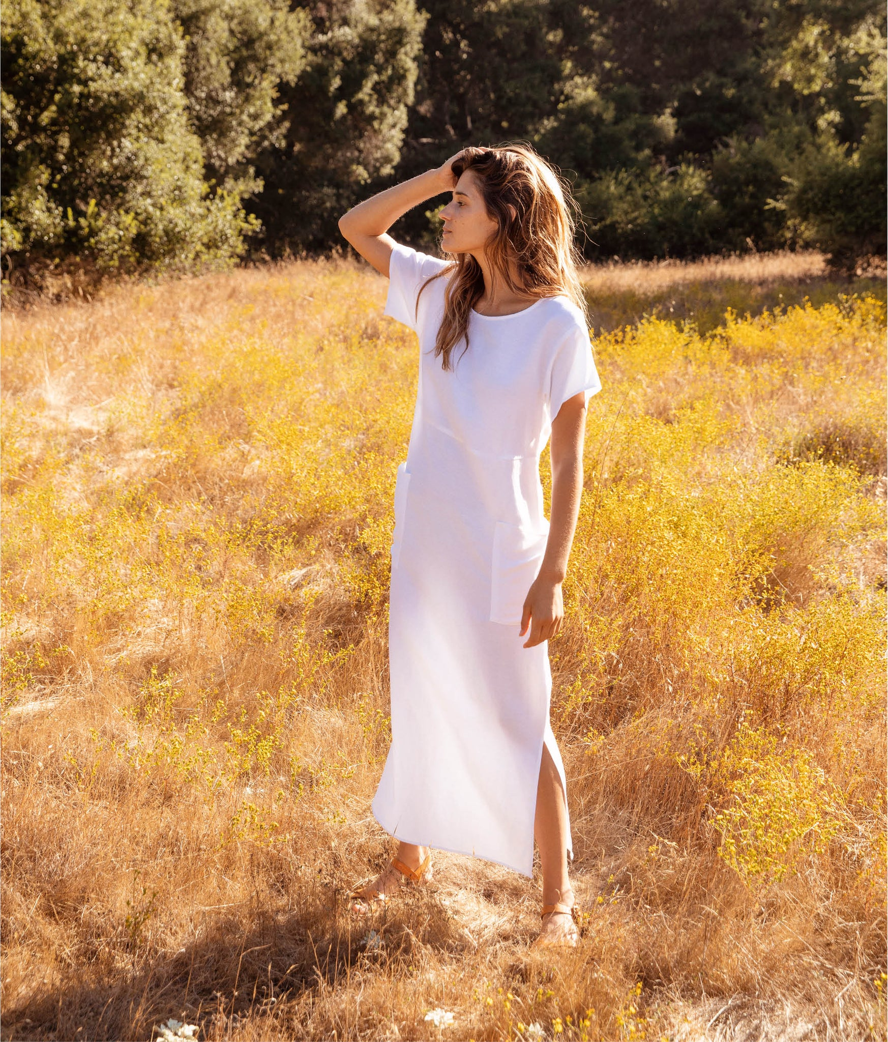 The Seaton Dress | Alabaster Linen
