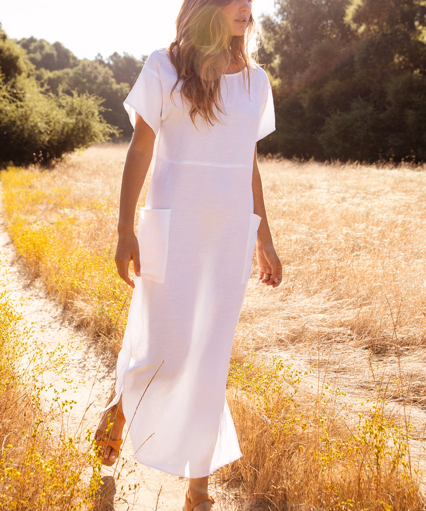 The Seaton Dress | Alabaster Linen image 9