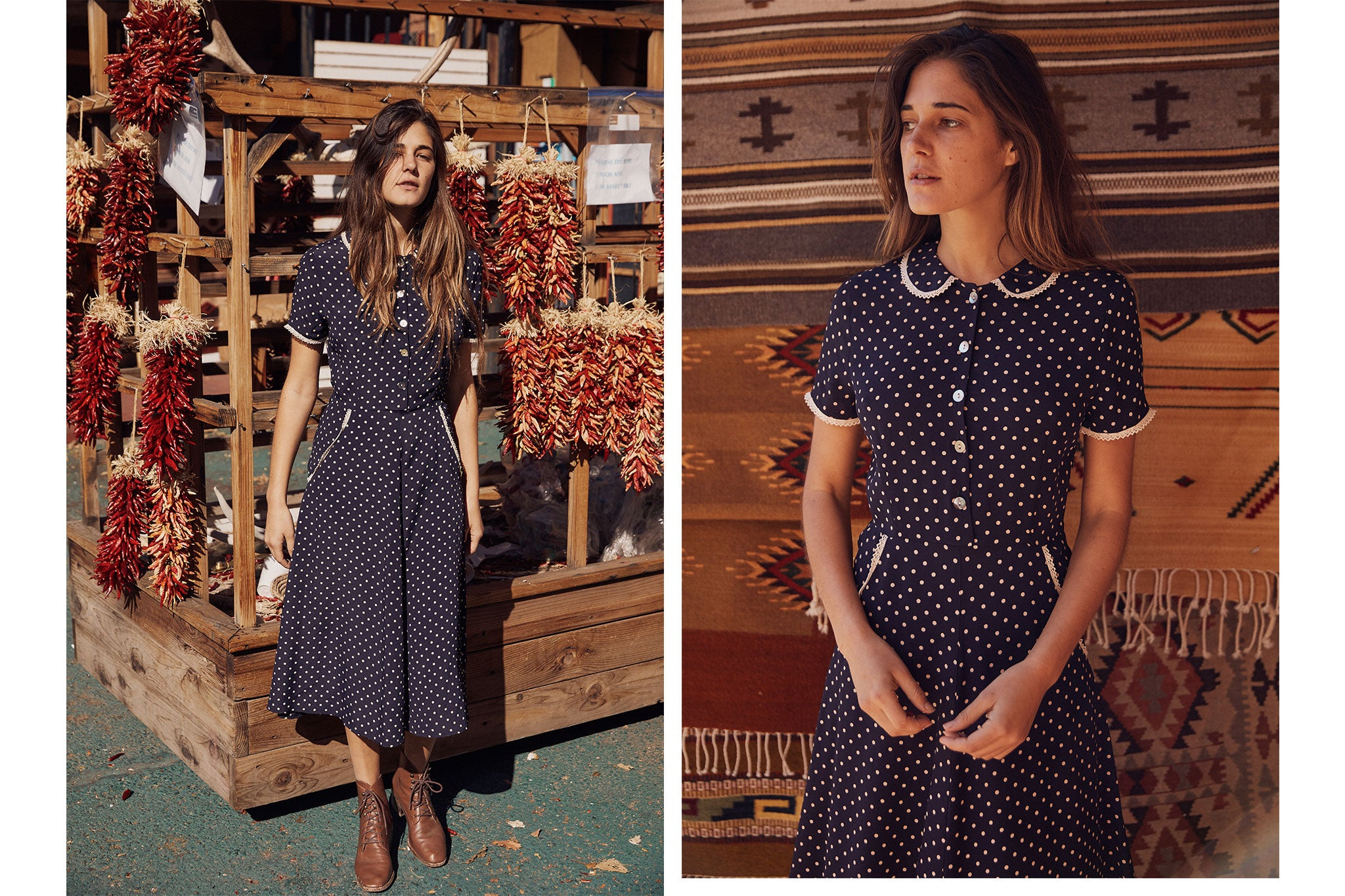The Sebastian Dress | Midnight Dot