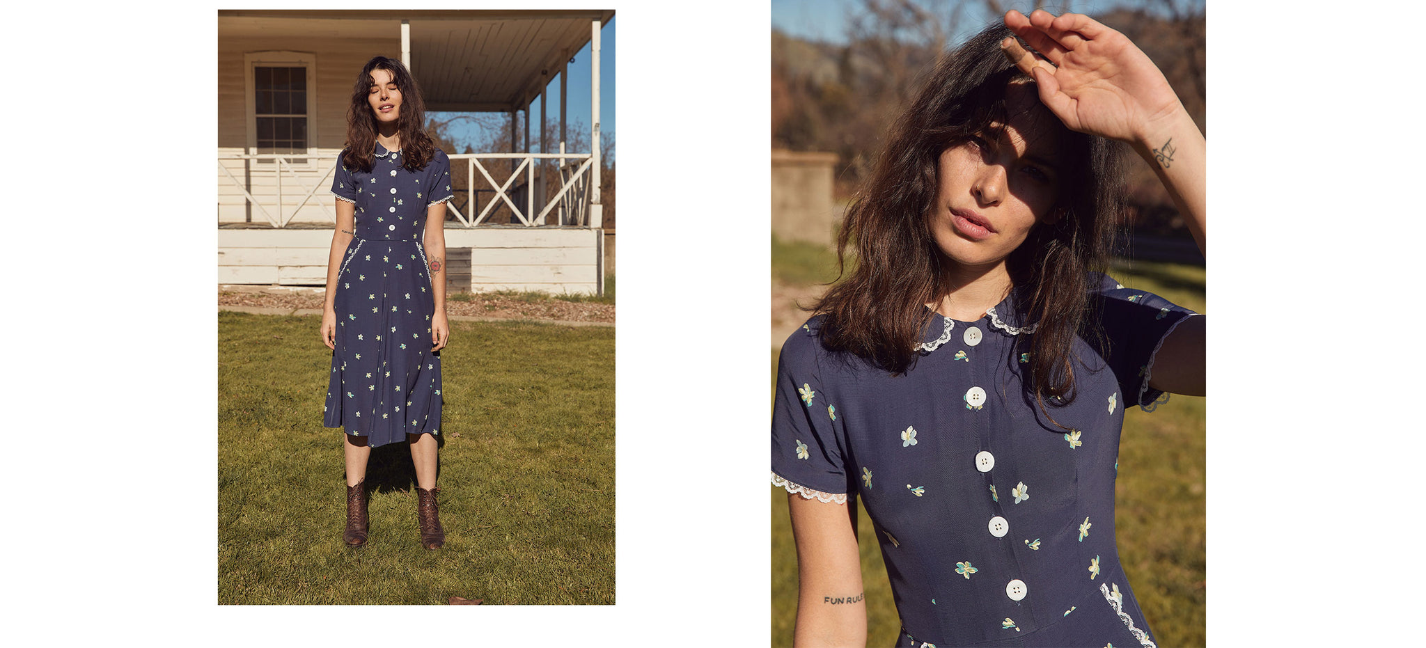 The Sebastian Dress | Sea Floral