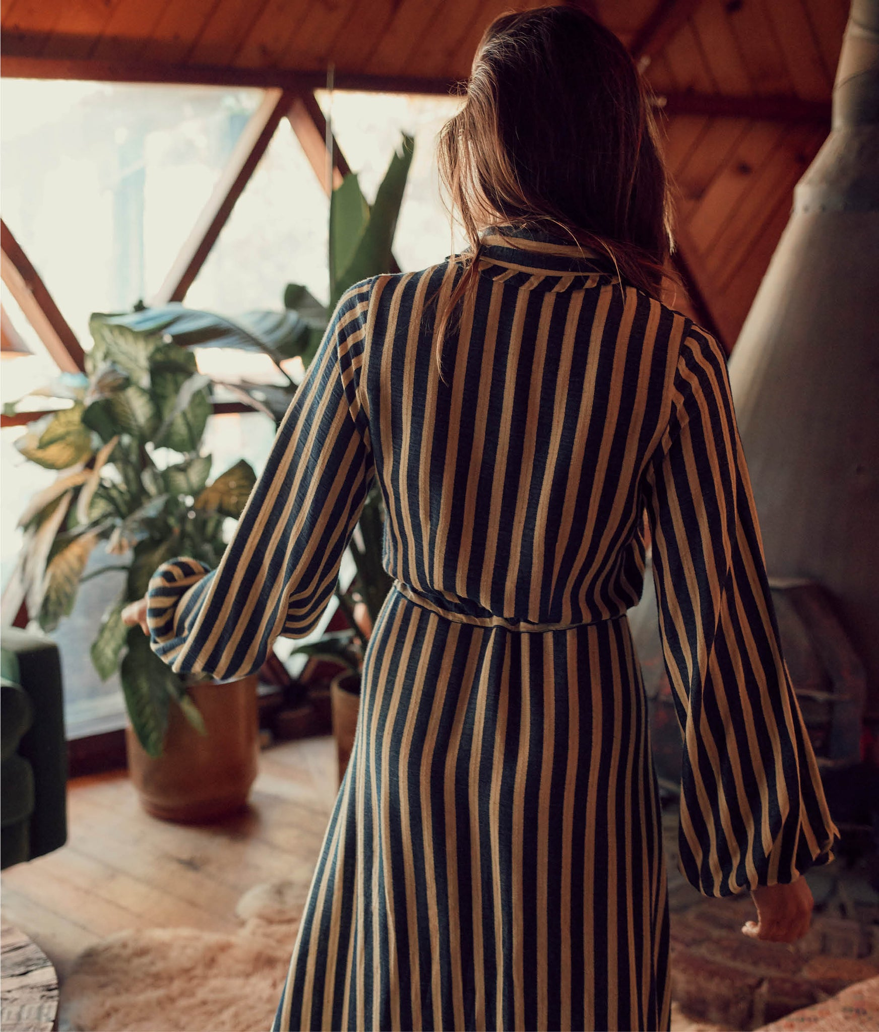 The Selma Dress | Blueberry Stripe
