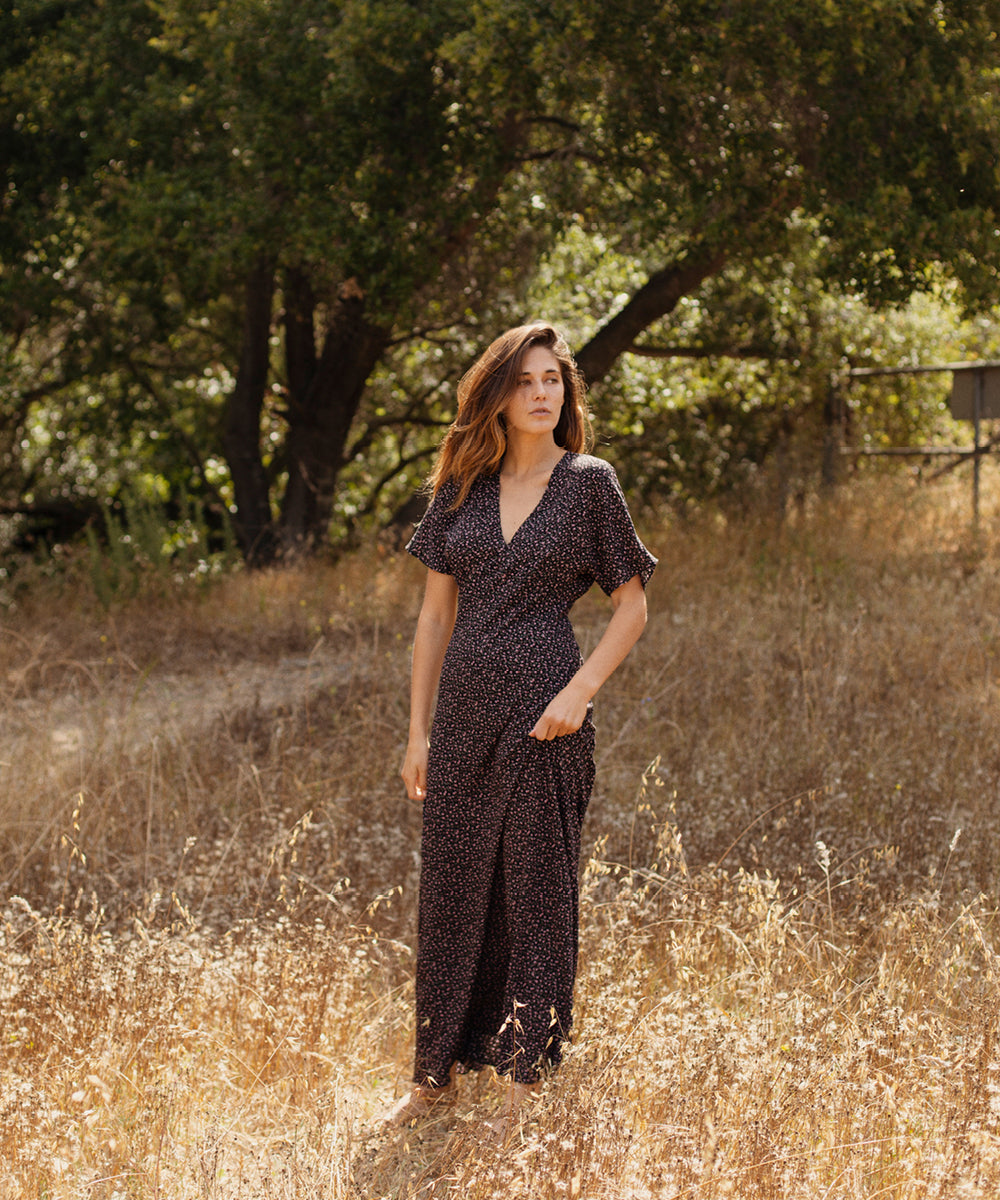 The Sequoia Dress | Noir Ditsy