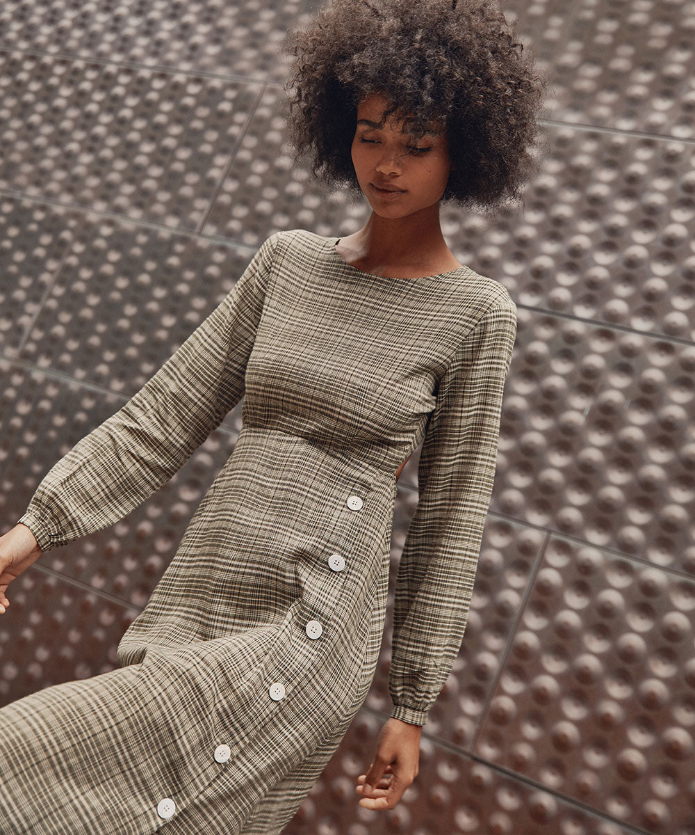 The Sian Dress | Hunter Plaid