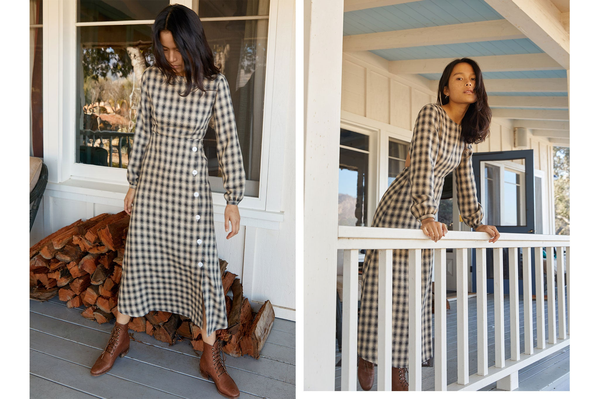 The Sian Dress | Noir Plaid