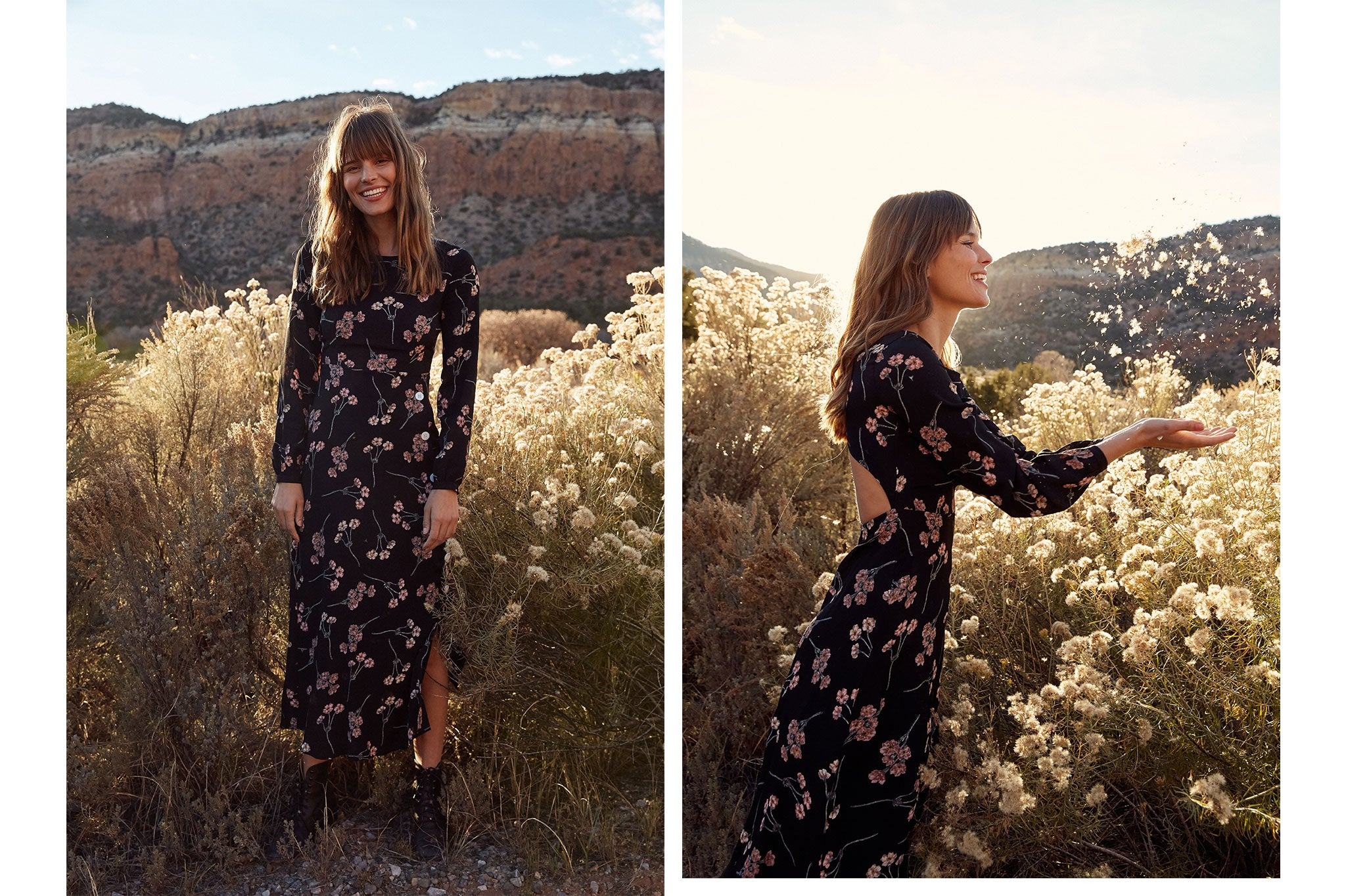 The Sian Dress | Noir Blossom