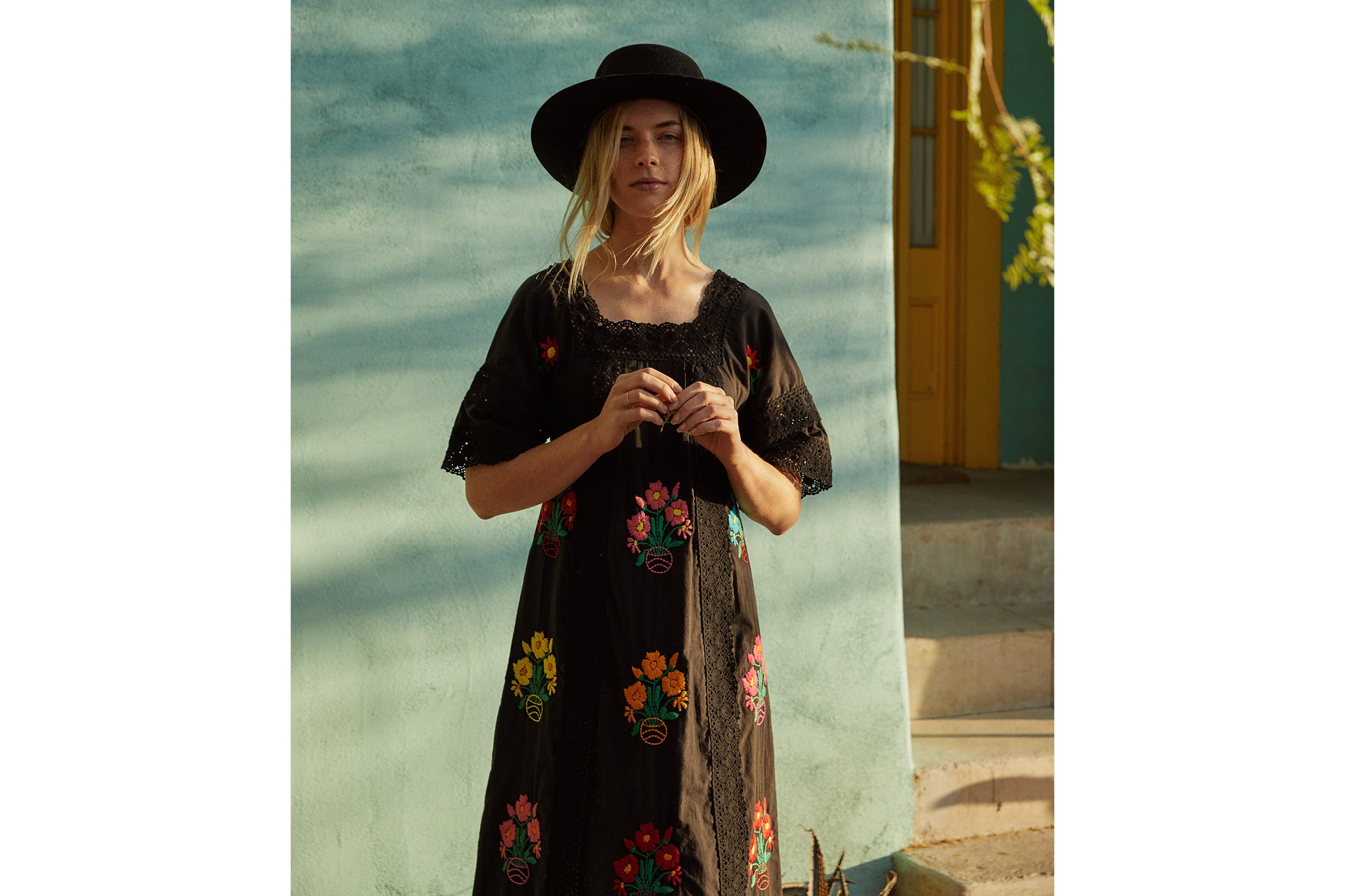The Simone Dress | Noir Embroider