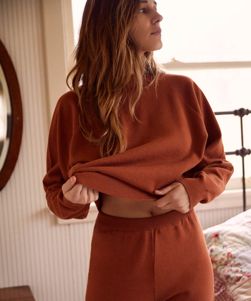The Sonny Sweater | Rust image 4