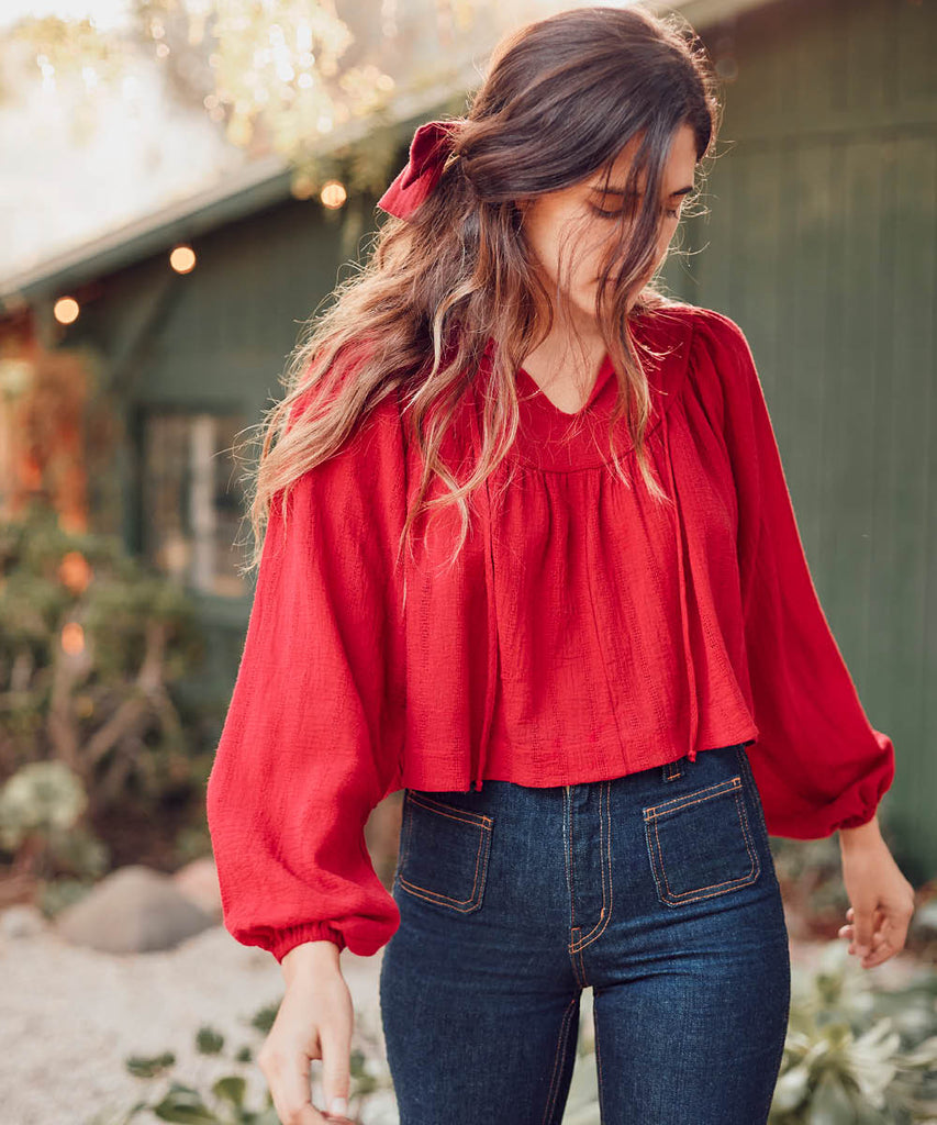The Sophie Top | Crimson image 8