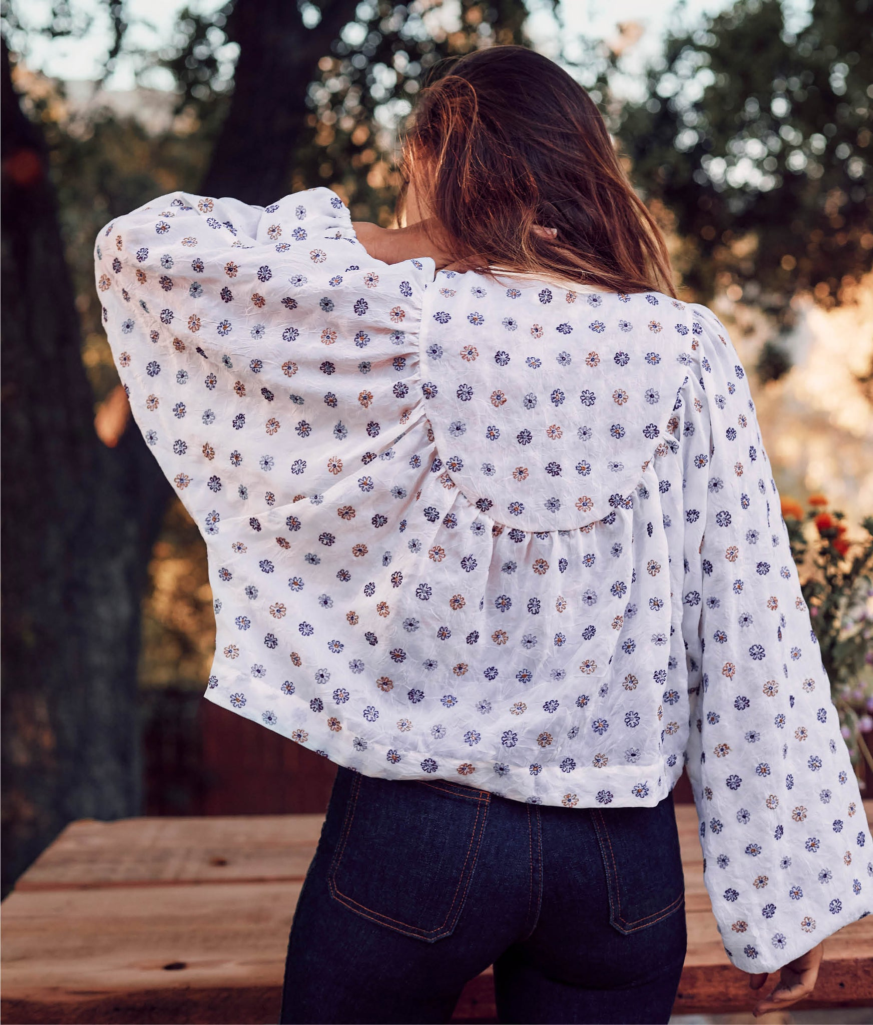 The Sophie Top | Embroidered Ditsy