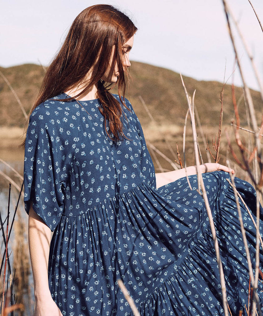 The Theo Dress Petites | Blue Daisy