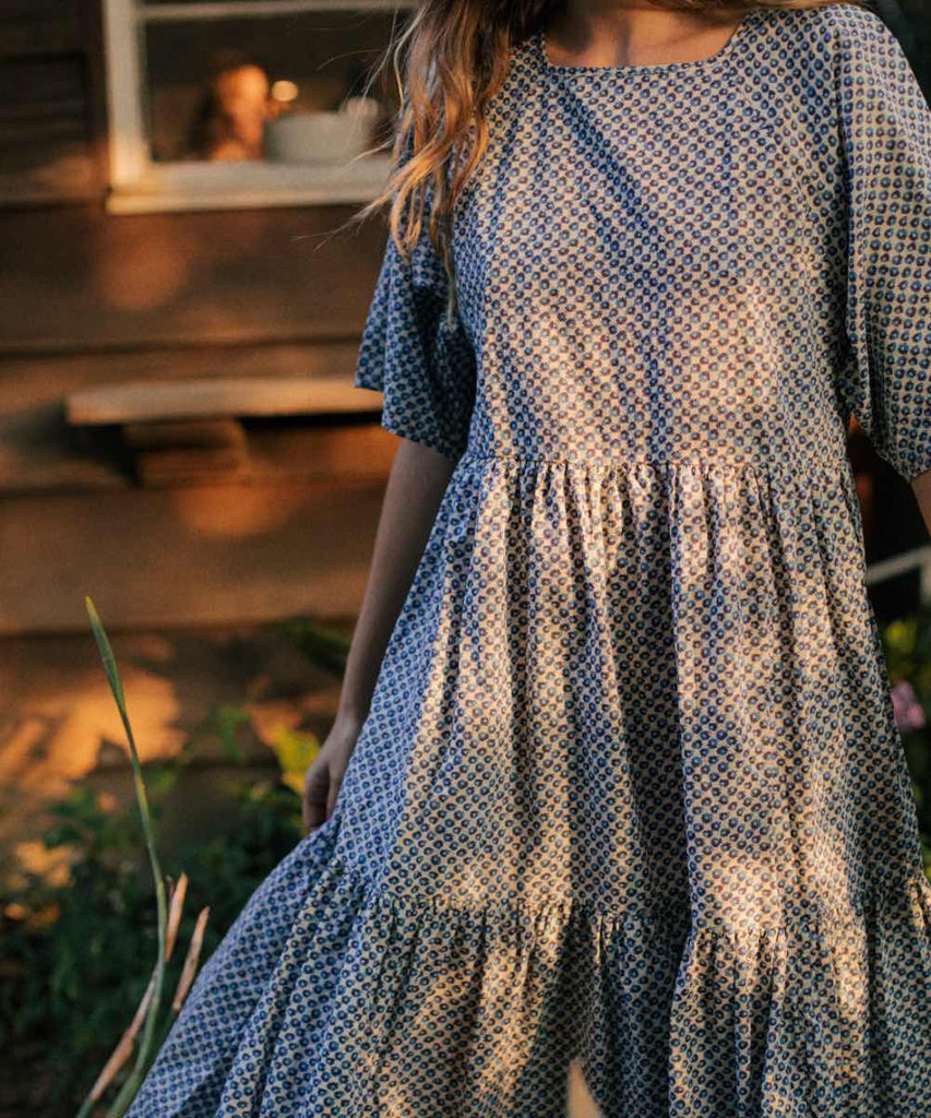 The Theo Dress | Cerulean Anemone Field