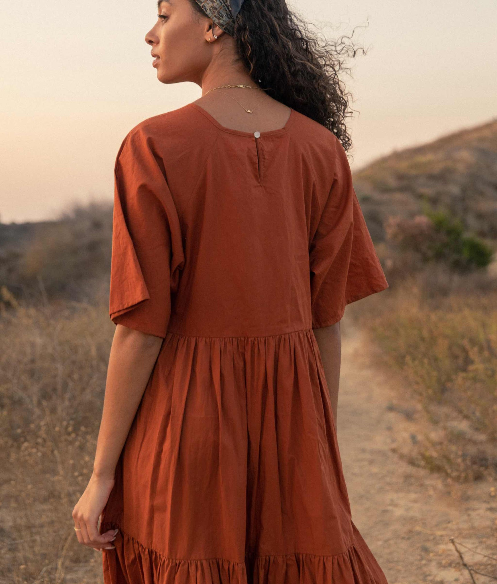 The Theo Dress | Rust