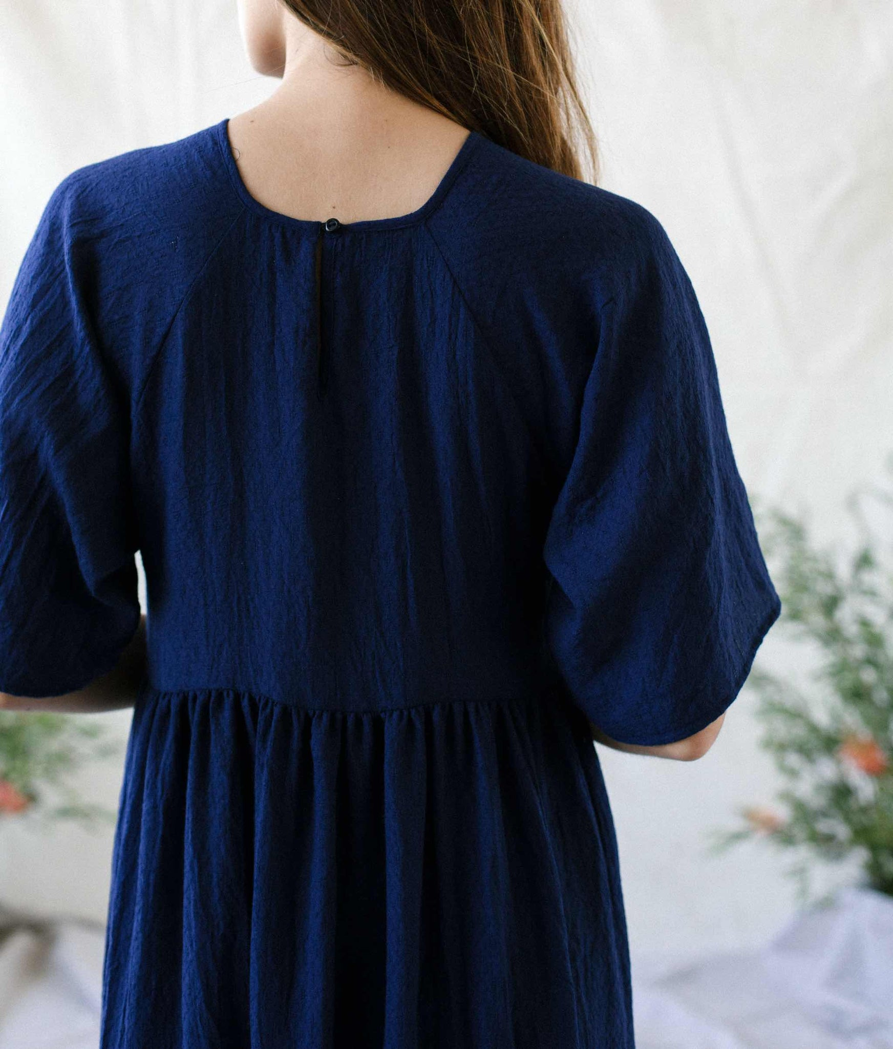 The Theo Dress | Woven Midnight