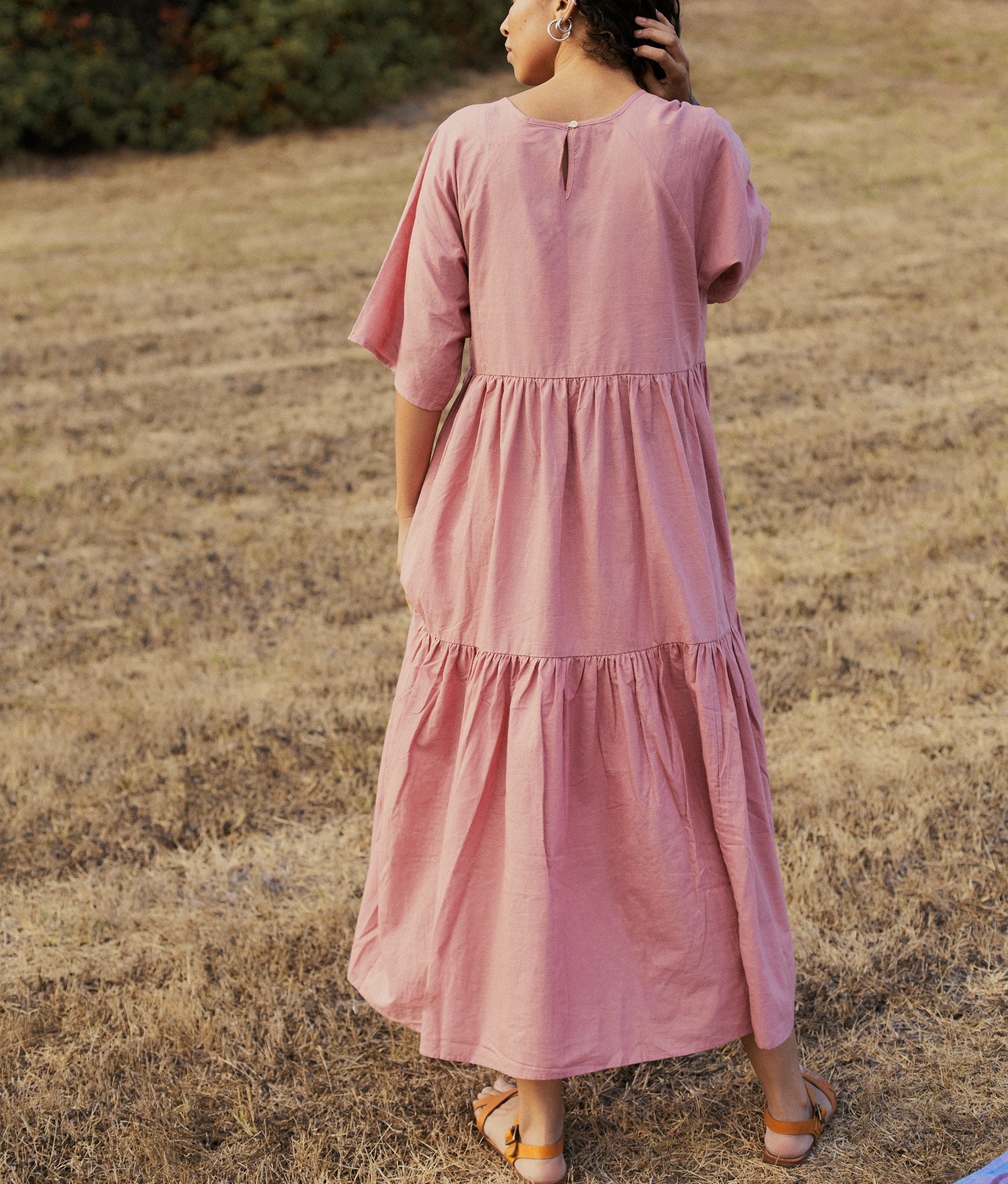 The Theo Dress | Mauve Khadi