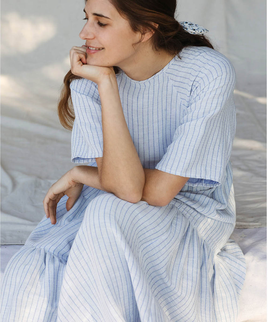 The Theo Dress |  Lazuli Stripe image 18