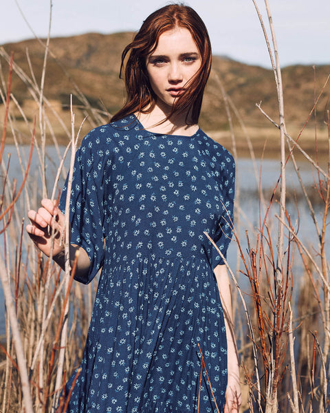 The Theo Dress | Blue Daisy