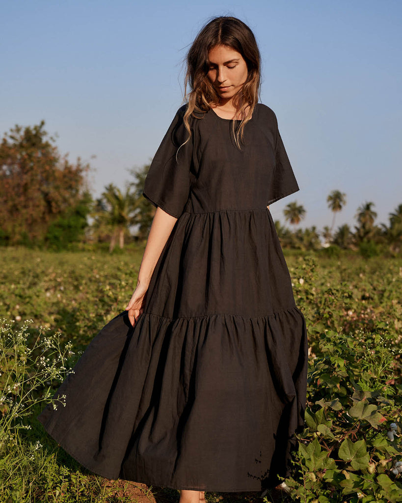 The Theo Dress | Noir Khadi