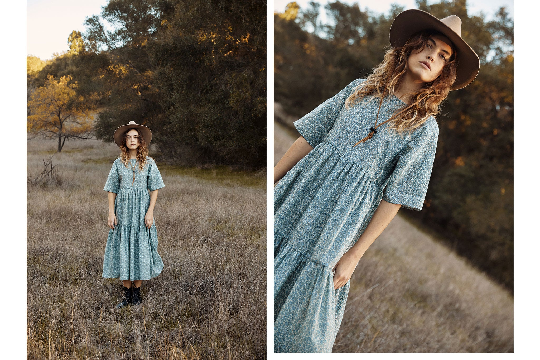 The Theo Dress Petites | Calico Mist
