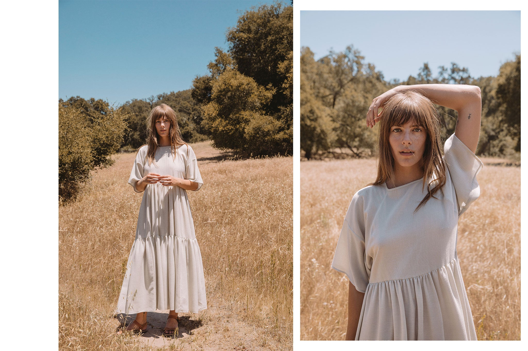 The Theo Dress | Flax Gingham