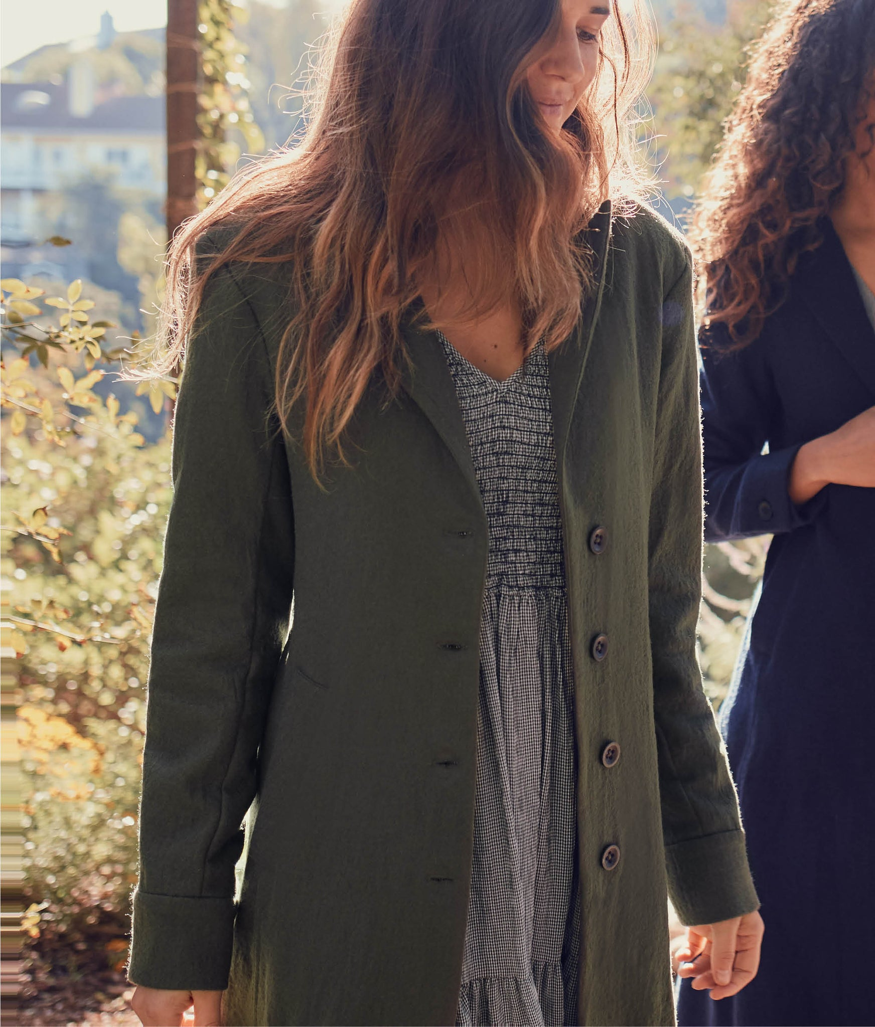 The Vera Coat | Olive Wool