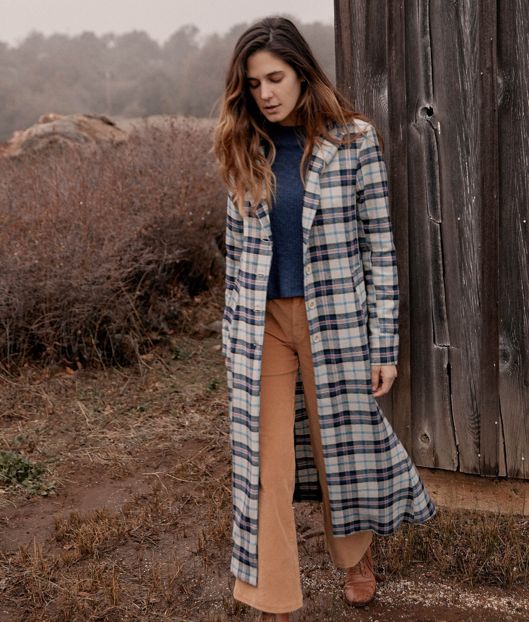 The Vera Coat | Ocean Checker