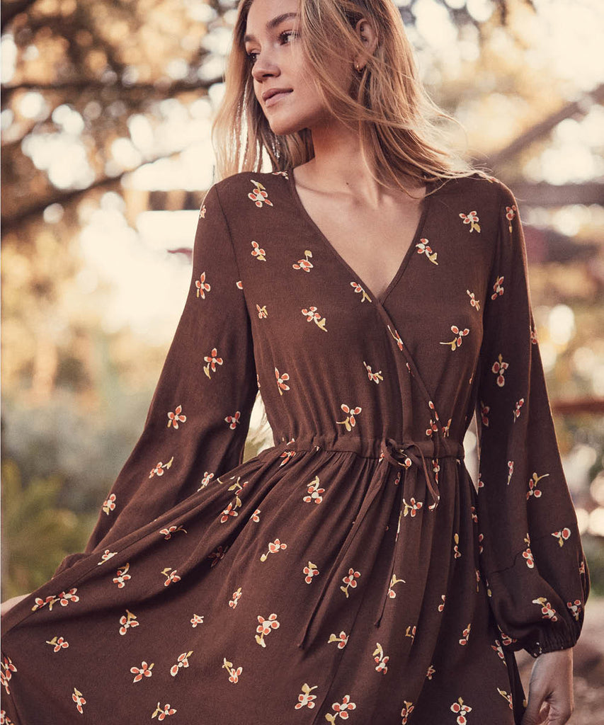The Willa Dress | Carob Bloom