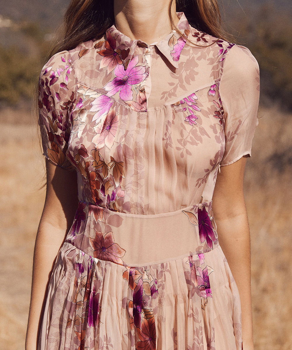 The Winslet Dress | Pale Pink Floral