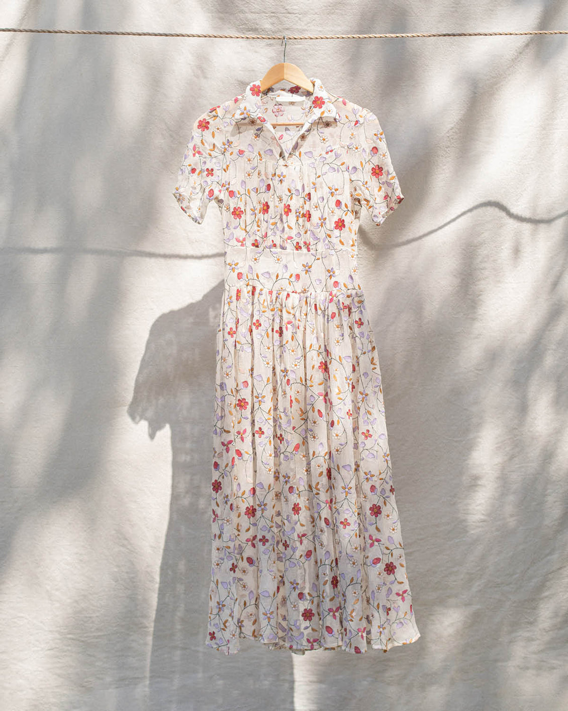The Winslet Dress | Embroidered Garden (1-of-a-Kind)