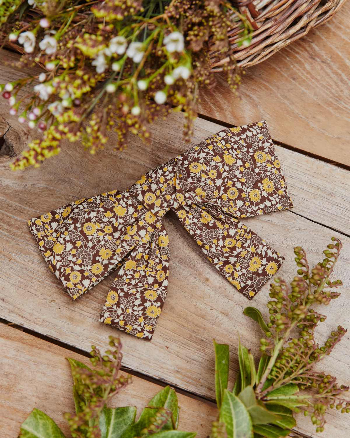 The Yara Hair Clip | Golden Blooming Vine