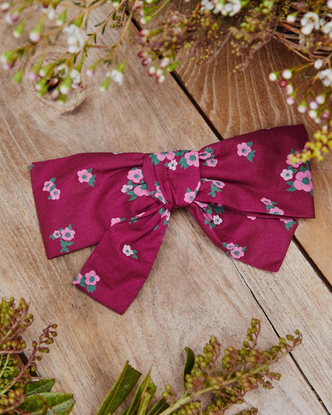 The Yara Hair Clip | Magenta Floral Bouquet