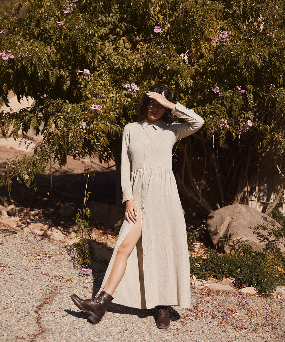 The Yivee Dress | Oatmeal