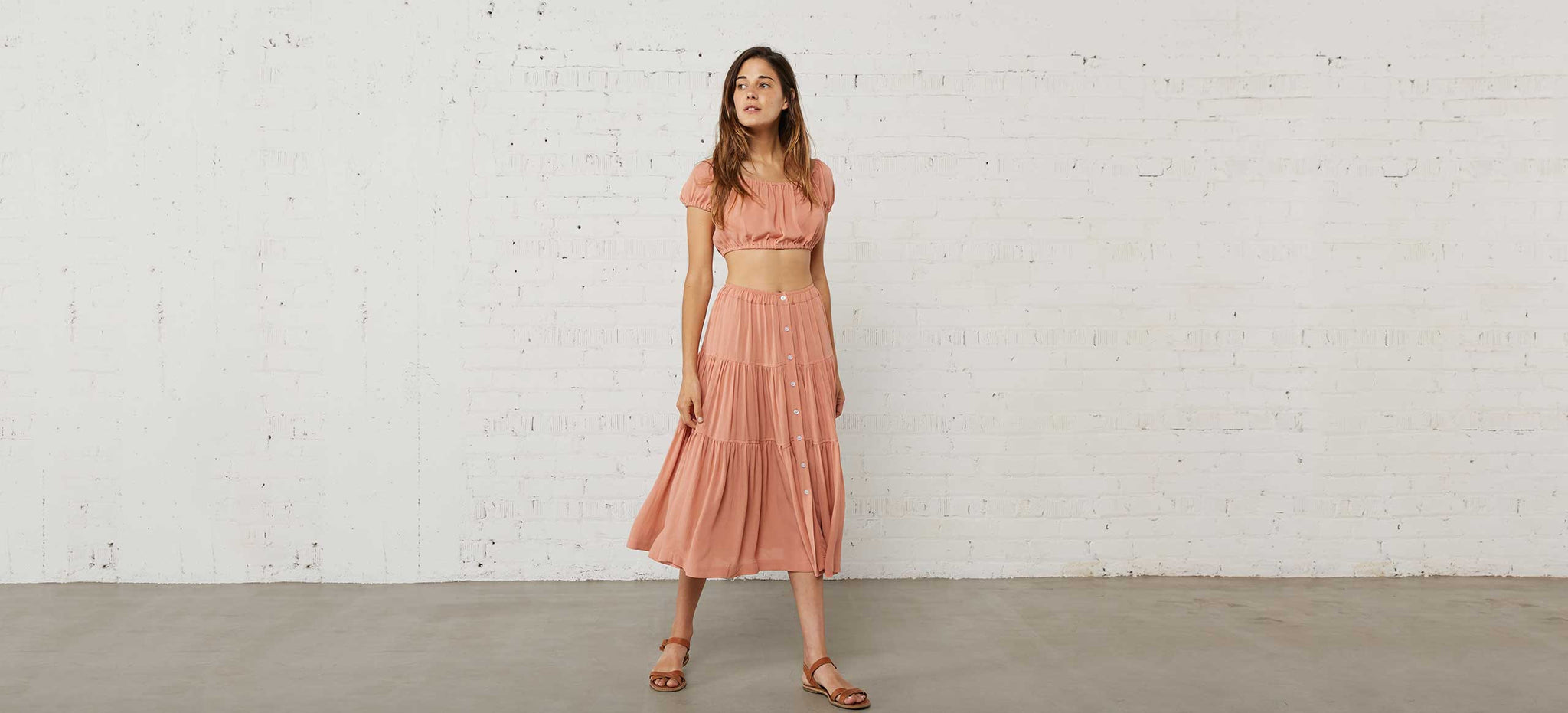 The Margot Two Piece | Peach
