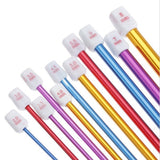 Multi-Color Aluminum Tunisian Afghan Crochet Hooks 11 Pcs 2-8 mm.  Free Shipping !