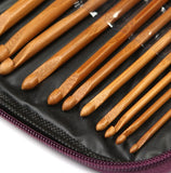 Bamboo Crochet Hooks and Bamboo Handled Steel Crochet Hooks in Attractive Case
