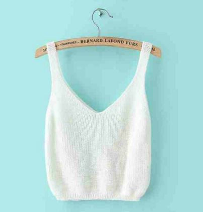 Women's Loose Fit Knit Crop Top