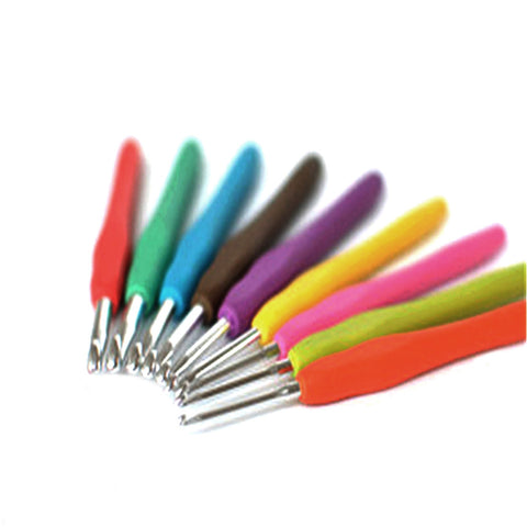 9 PCs Metal Crochet Hook Set 2mm - 6mm
