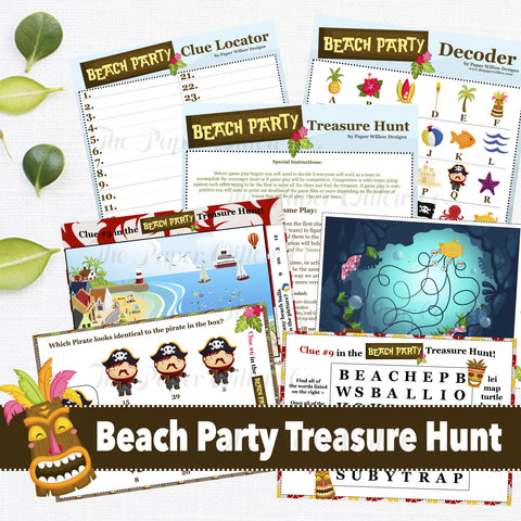 Beach Party Treasure Hunt