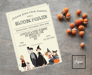A Bewitching Halloween-Halloween Party Invitation