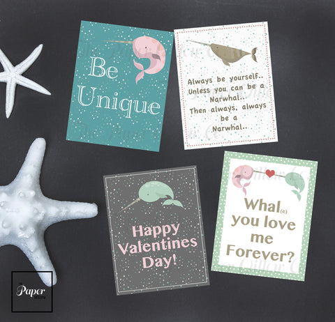Narwhal-Valentine Cards