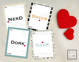 Nerd Girl Problems-Valentine Cards