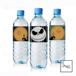 Nightmare Before Christmas-Drink Labels