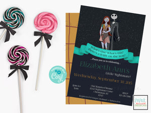 Nightmare Before Christmas-Baby Shower Invitation