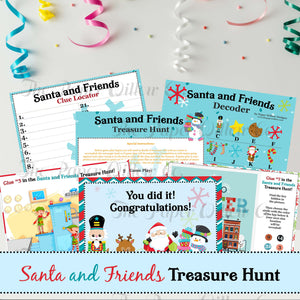 Santa and Friends Treasure Hunt