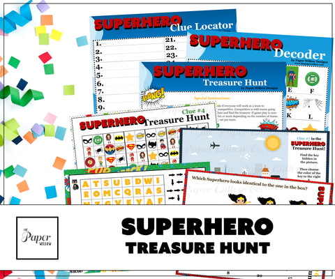 Superhero Treasure Hunt