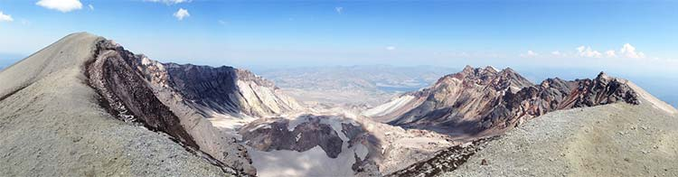 Mount St. Helens emitted 0.26 cubic miles of volcanic material.