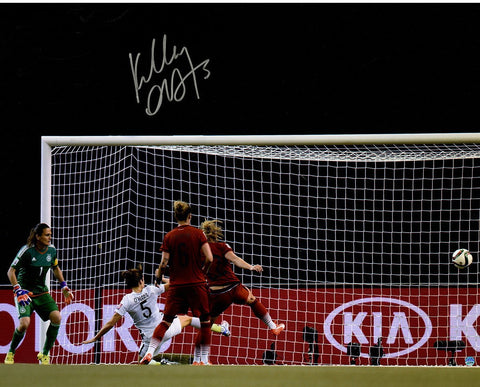 Kelley OHara Signed Team USA 2015 Womens World Cup Goal vs Germany 16x20 Photo
