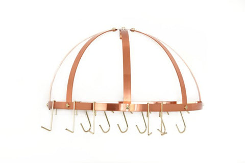 22 x 11.5 Satin Copper Pot Rack w/Grid & 12 Hooks - Old Dutch - Dropship Direct Wholesale