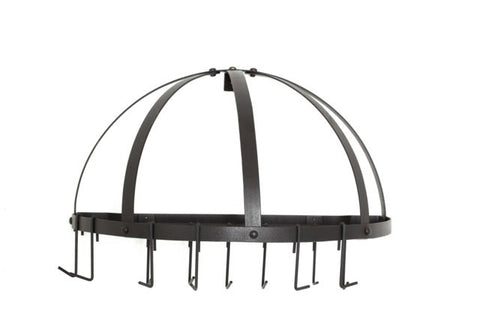 22 x 11.5 Graphite Pot Rack w/Grid & 12 Hooks - Old Dutch - Dropship Direct Wholesale
