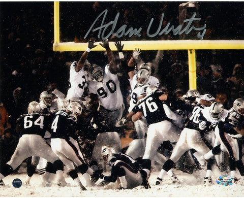 Adam Vinatieri Signed Snow Kick 8x10 Photo