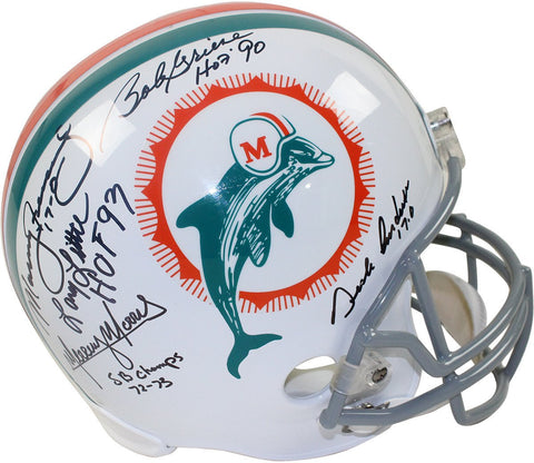 1972 Dolphins 5 Signature Replica Helmet Signed and Inscribed by Griese/Fernandez/Morris/Little/Anderson